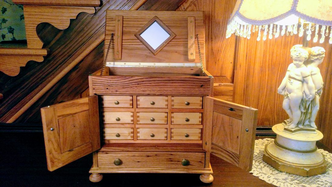 Hand-Crafted Reclaimed Chestnut Jewelry Box