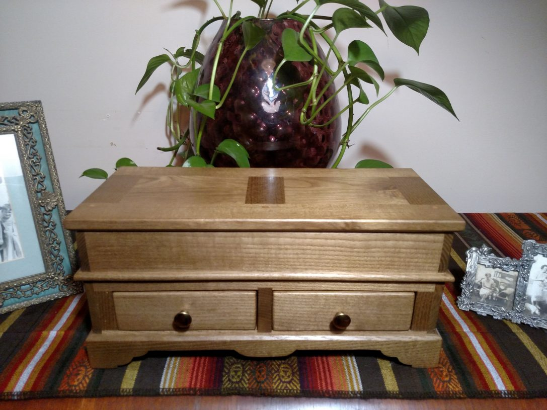 Hand-Crafted Re-claimed Sassafras Jewelry Box reduced from $750.00 to $640.00